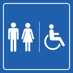 Restrooms sign icon