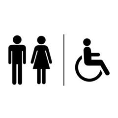 Restroom sign label