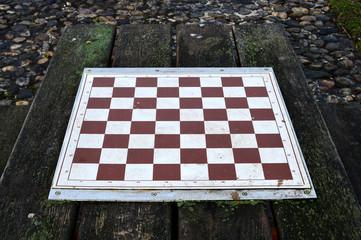 Schachbrett am Parktisch