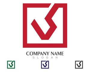 V_VS Logo Template 3