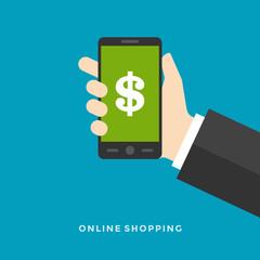 Flat design vector business Online banking