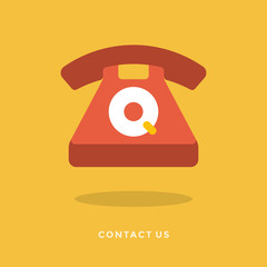 Flat design vector business for customer and technical support