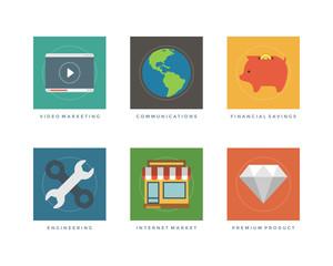 Flat design vector illustration infographic elements