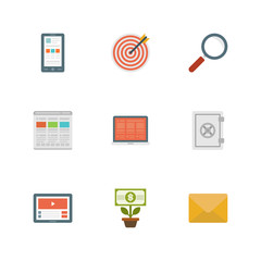 Flat design icons vector symbols for website