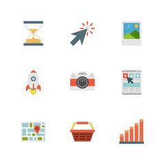 Flat design icons vector symbols for website