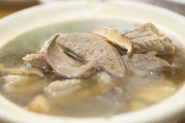 Bak kut teh, Meat bone tea in Hokkien Chinese style of soup
