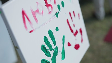 beautiful picture of love, Valentine's handprints