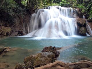 Beautiful Waterfall in Srinakarin Dam National Park , Thailand