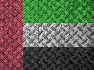 United Arab Emirates flag on grunge wall
