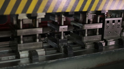 press machine, close up