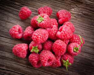 Raspberries. Organic berries isolated