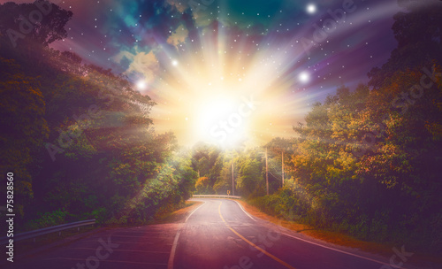 Keuken foto achterwand Bossen Way heaven amazing wonderfully filled beautiful shining stars.