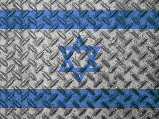 Israel flag on grunge wall