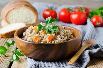Buckwheat with vegetables