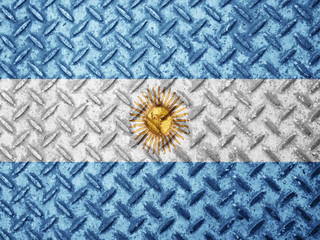 Argentina flag on grunge wall