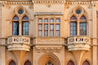 Exquisite facade of old Maltese house in ancient Mdina