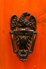 Exquisite door knocker of old Maltese house in Mdina