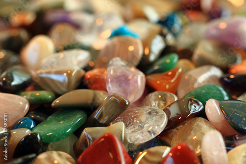 Fotobehang Edelsteen color gems background