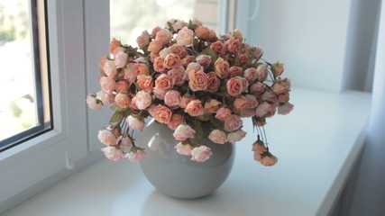 bouquet of rose in a vase