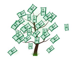 Tree. money. business. symbol. icon. usd