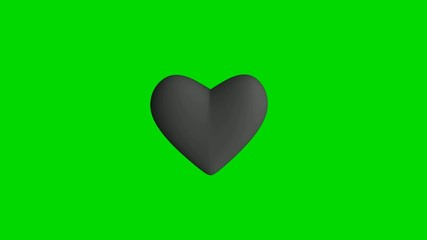 Grey heart on green background loopable