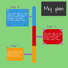 Vector Infographic planning step by step.