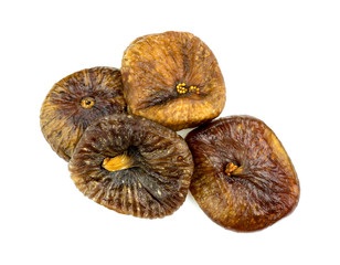Pile of tasty dried figs
