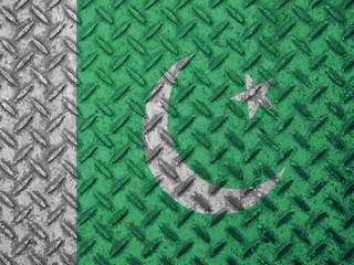 Pakistan flag on grunge wall