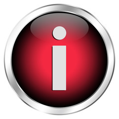 Roter Informationsbutton