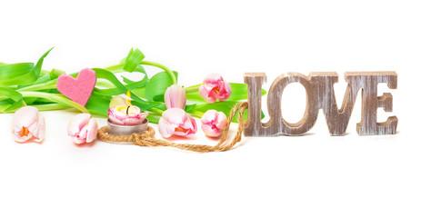 Tulpen, Kerze, Herz