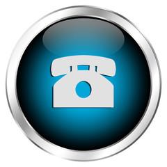 Blauer Anrufbutton