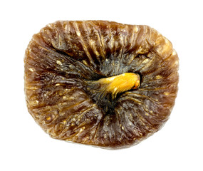 Macro of dried fig fruit