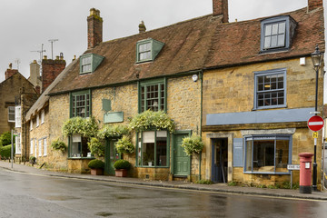 old stone houses at Sherborne, Dorset