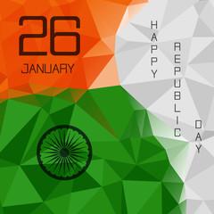 Elegant Indian flag theme background of Happy Republic day. 26