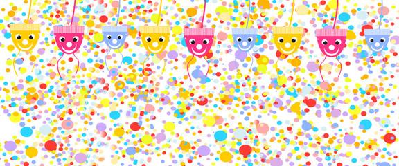 konfetti regen banner geburtstag