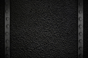 Black texture with metal frame