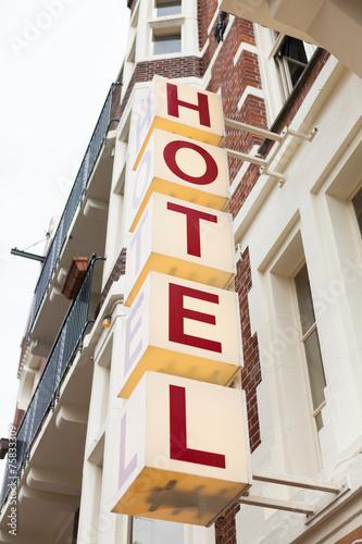 Leinwanddruck Bild Hotel