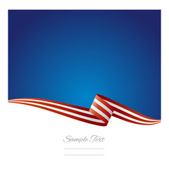 USA ribbon vector