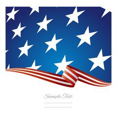 USA flag ribbon vector