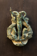 Exquisite door knocker of old Maltese house in Mdina