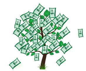 Business. Money tree. usd. Piggy. saving