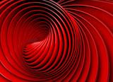 Fototapety Fondo abstracto 3d.Espiral o remolino en tono rojo