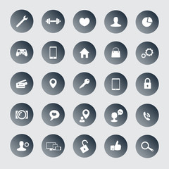 25 icons for web, apps development vector illustration, eps10