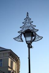 Decorated street lamp