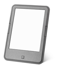 Portable e-book reader isolated on white background