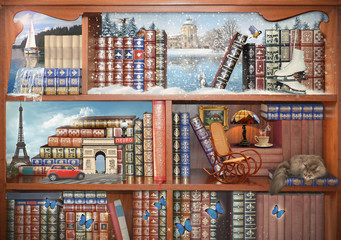 The magical world of books. Concept graphic.