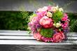 canvas print picture - schöner Blumenstrauß