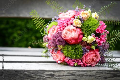canvas print picture schöner Blumenstrauß