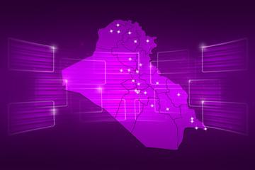 Iraq Map World map News Communication purple