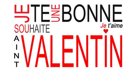 Carte de souhait de la Saint Valentin